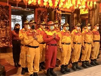 基隆特搜隊慶安宮祈福 消防員:罹難者已回家讓心情漸平復