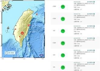 台東縣海端鄉今晨連6震 氣象局:無主震相當特殊