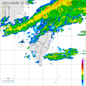 大雨特报 半个台湾湿到变色 1张图秒懂全台雷雨热区