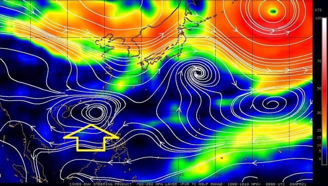 鋒面接近影響,雨區才剛往南,但鄭明典又爆失蹤高氣壓再度出現。(翻攝自 鄭明典臉書)