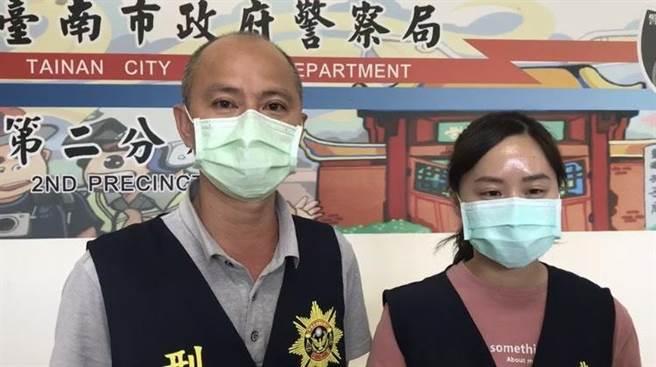 台南市警二分局偵查隊偵查佐洪智雄、警員張重翎。(曹婷婷攝)