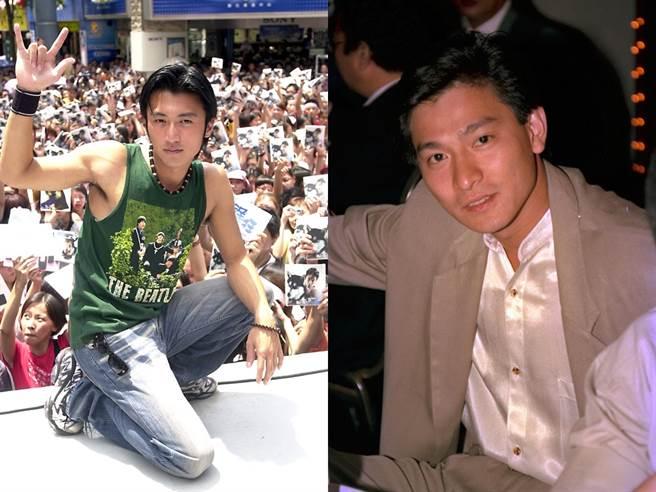 谢霆锋幼时曾被刘德华亲拥过,长大也视其为偶像。(图/中时资料照)
