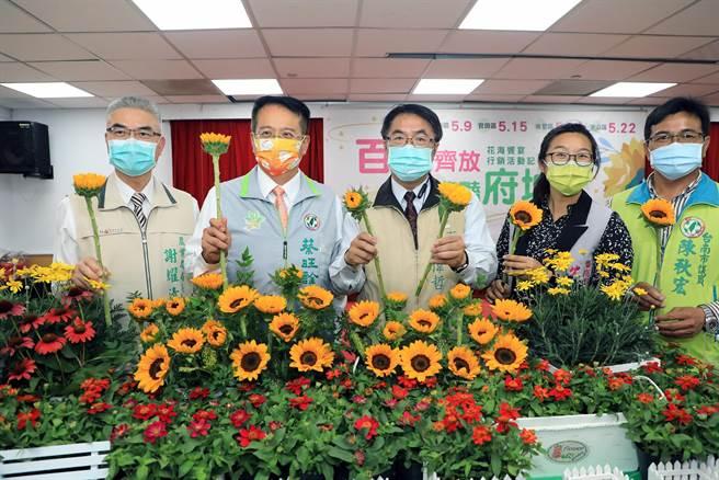 台南市政府農業局配合一期作停灌,在停灌田區辦理花海計畫。(市府提供/洪榮志台南傳真)