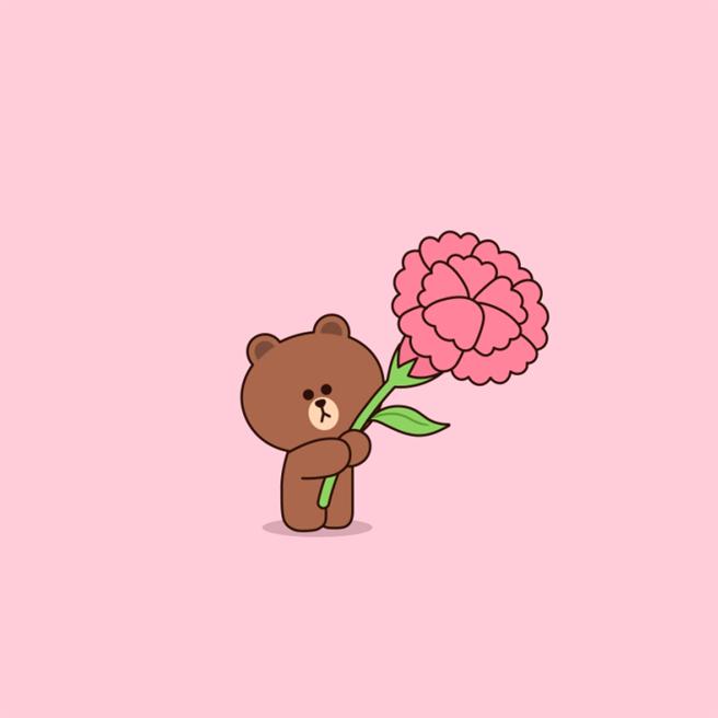 LINE母親節聊天室特效來了 3大關鍵字讓熊大送上溫馨康乃馨