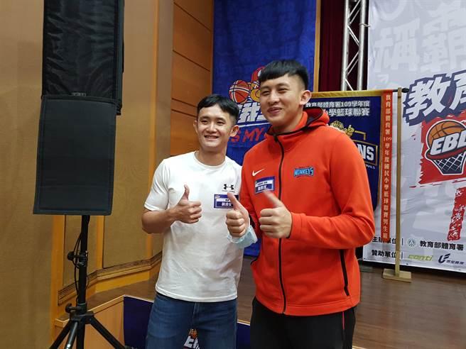 蔣淯安(左)、陳將双(右)暌違6年再度合照。(陳筱琳攝)