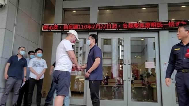 松山分局黑衣人之亂,市警局表示所長並無滅證犯意。(本報資料照片)