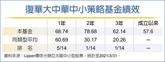 復華大中華中小策略基金 奪亞太區中小型股票3年期獎