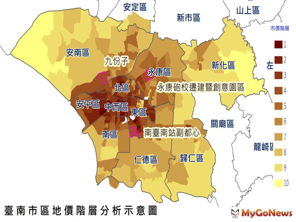 智慧台南讓地價創新精進,地政局藉由大數據檢視地價變動及衡平性(圖/台南市政府)
