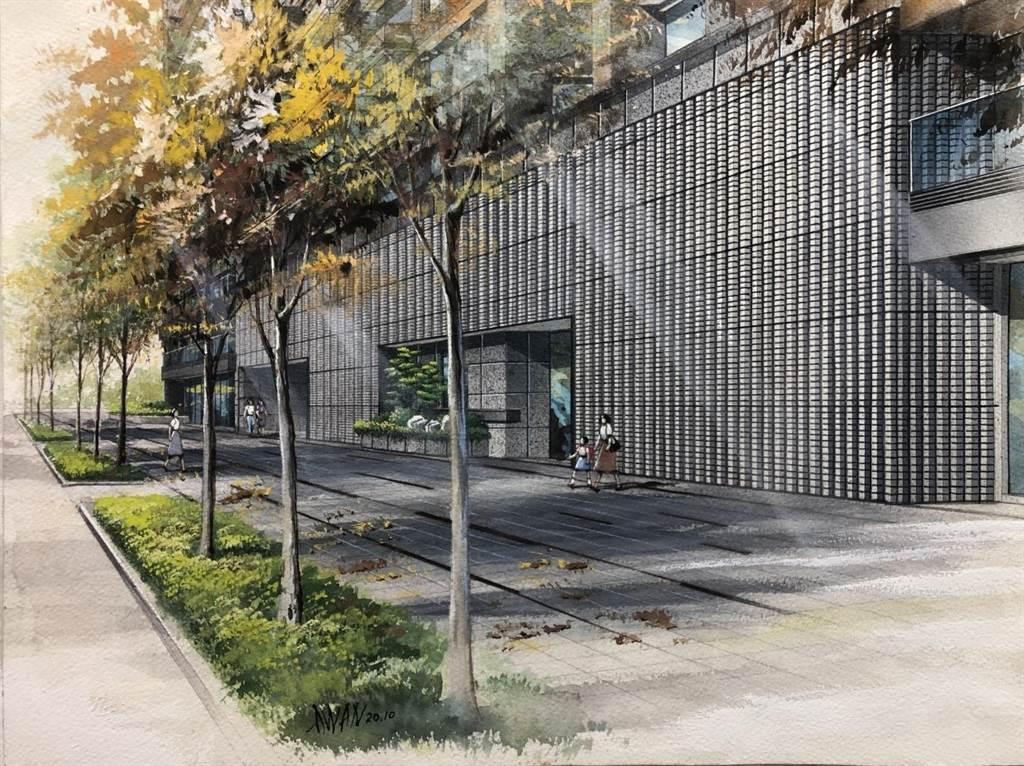 「京澄泰然」外觀採用上萬顆INAX陶磚裝飾,營造日式自然禪的設計風格。圖/業者提供