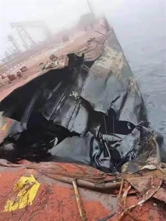 青島泊港15萬噸油輪遭撞 百萬桶原油恐洩海 影響五一假期