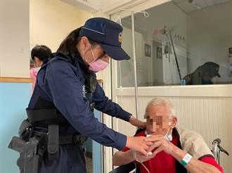 獨居倔強老翁 推輪椅逛平鎮警主動關心