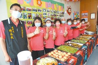 嘉縣福龍老人食堂 每周共食6天