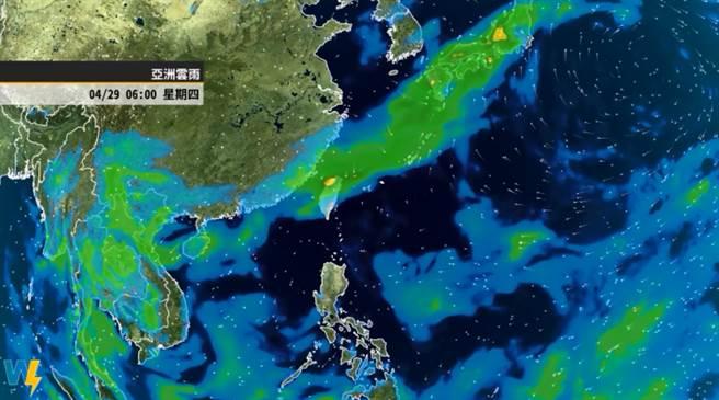 彭启明认为,梅雨季有机会比原先预估的早来。(翻摄天气风险脸书 )