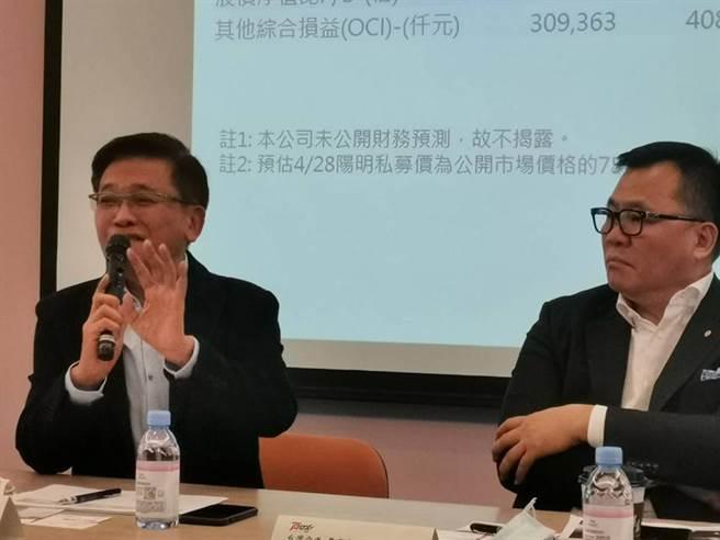 左起台驊董事長顏益財與台灣空運董事長許旭輝。(圖/張佩芬)