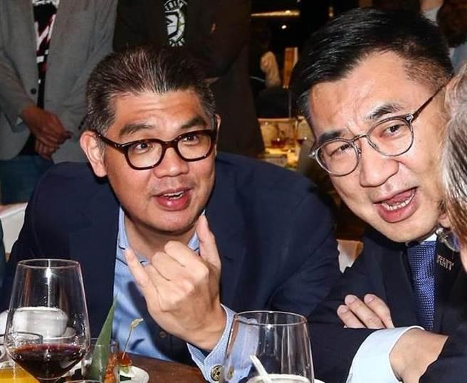 國民黨智庫副董事長連勝文(左)、國民黨主席江啟臣(右)。(圖/本報資料照)