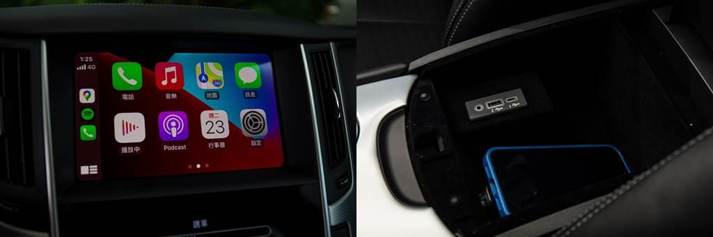 此次加入了Apple CarPlay/Android Auto之外,USB連接埠也加入一個Type-C,順應科技潮流。