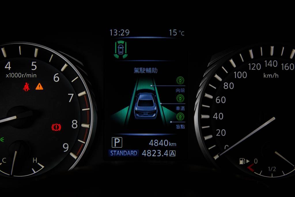 駕駛輔助系統在Q50旗艦/Sliver Sport兩車型上列為標配,但由於少了DAS線傳方向盤,不具備車道維持功能。