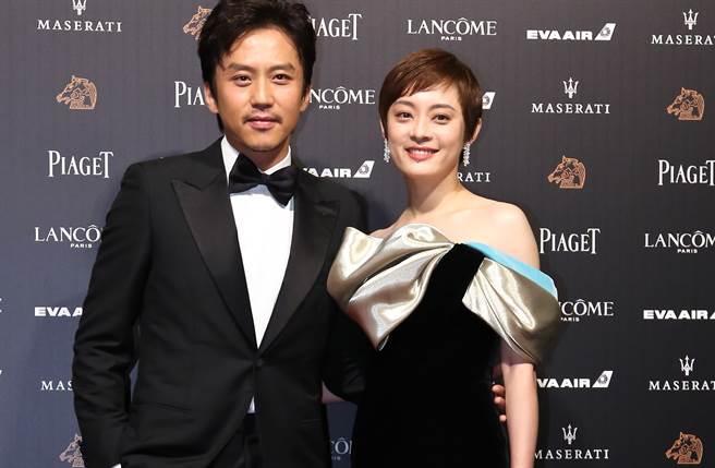 孫儷、鄧超夫婦2018年來台出席金馬獎。(本報系資料照)