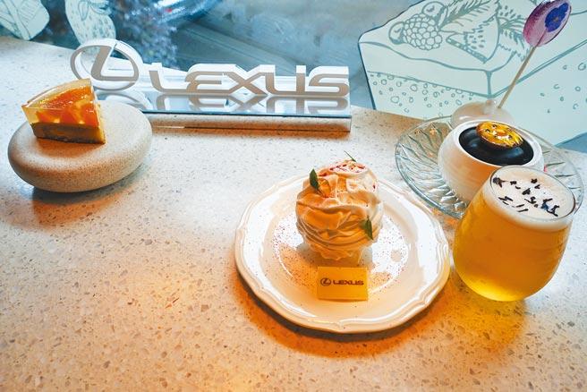 「Lexus午茶組」單人760元+10%,可享1套3款甜點及飲料。(黃采薇攝)
