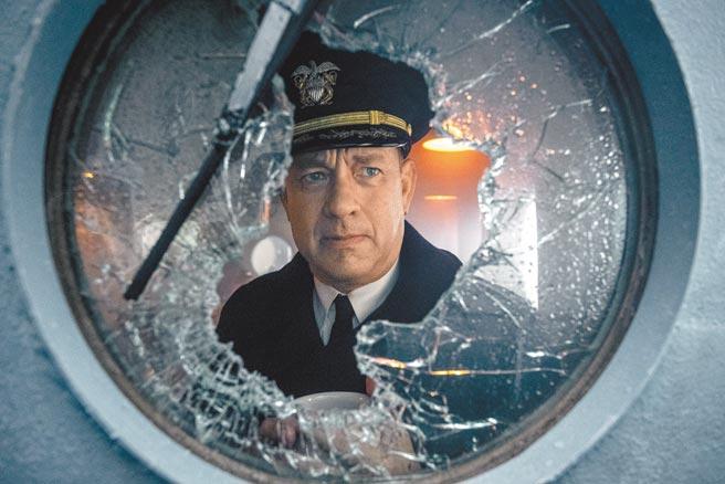 影帝湯姆漢克在Apple TV+的《怒海戰艦》中自編自演,化身二戰時期的巡洋艦灰獵犬號指揮官。(美聯社)
