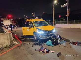 桃園雙載機車遭小黃撞飛墜大圳 失蹤男遺體涵管內找到了