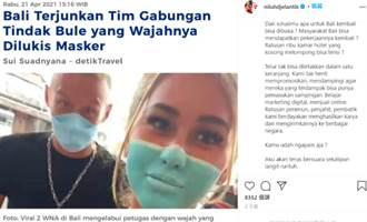 320萬訂閱網紅丟爆台灣臉 嘴畫「假口罩」逛超市被趕出峇里島