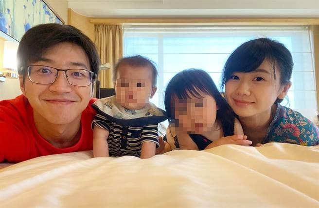 江宏傑、福原愛育有兩個小孩。(圖/翻攝自福原愛 Ai Fukuhara臉書)