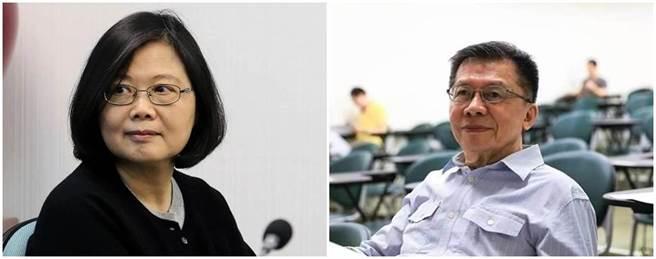 總統蔡英文(左圖)、前民進黨立委沈富雄(右圖)。(中時資料照)
