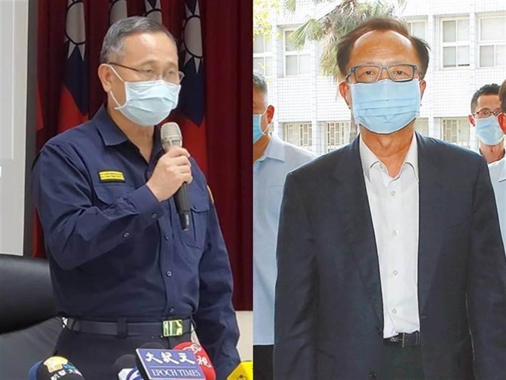 署長陳家欽(左)、台北市警局長陳嘉昌(右)。(圖/記者林郁平、趙雙傑攝)