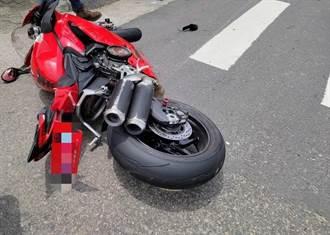 重機界法拉利台三線過彎摔車 百萬杜卡迪車主噴飛身亡