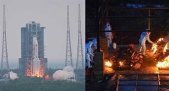 中國射火箭對比印度燒屍體 官媒被批引發論戰