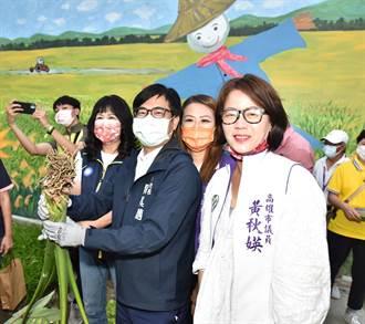 「芋」見幸福 陳其邁感謝地方人士捐助銀髮農園