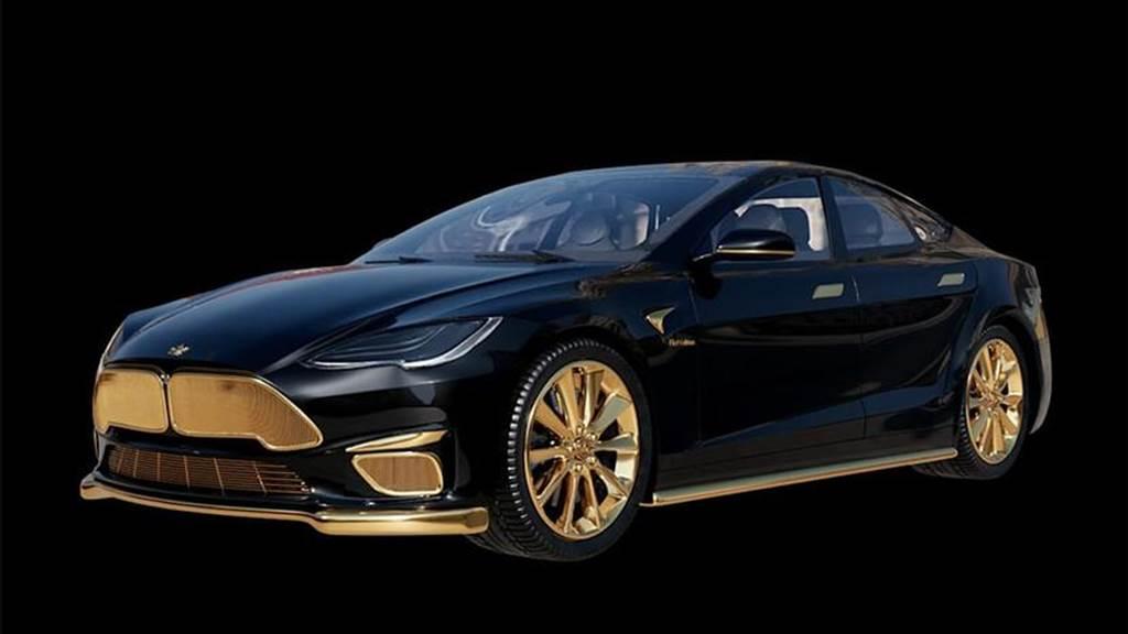誰說特斯拉不豪華?世界最閃 24K 金 Model S 訂製版,要價 835 萬元