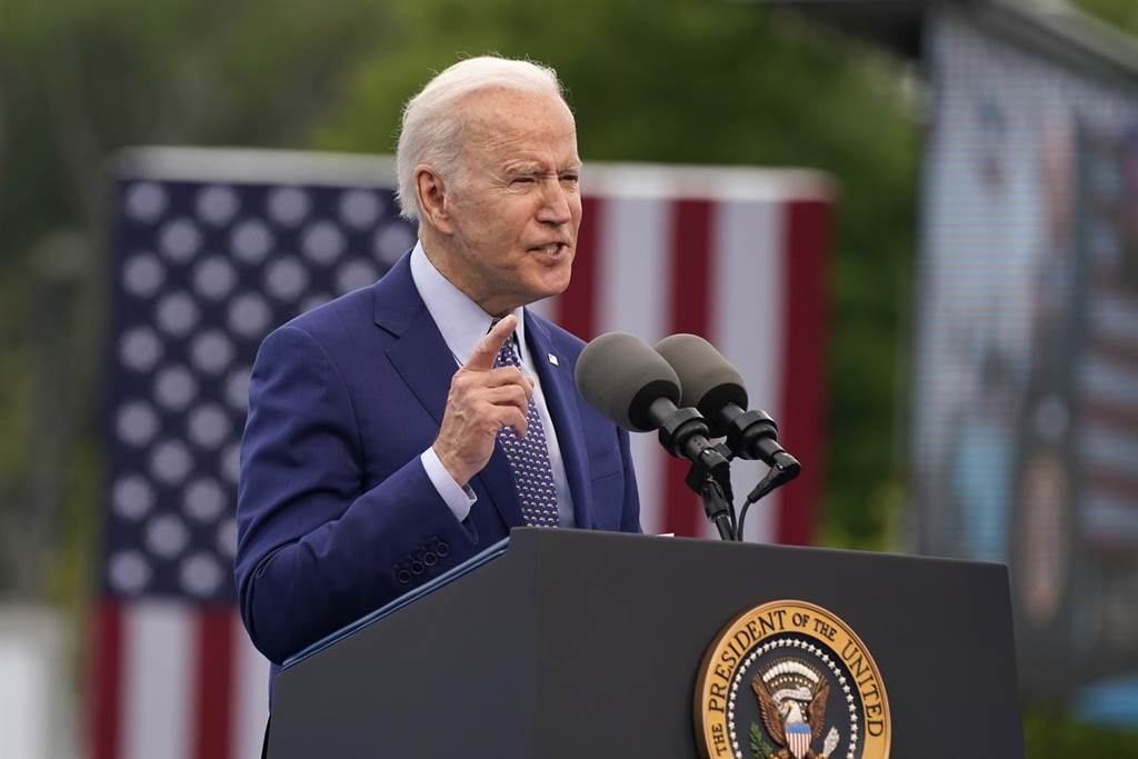 拜登在白宫发布的声明中指出,「我们誓死天涯海角追缉宾拉登,也顺利逮到他了」。图/美联社(photo:ChinaTimes)