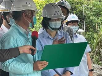 蔡英文視察石門水庫清淤 呼籲省水、調水、找水