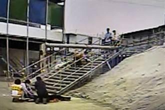 台積電寶山工地傳意外 挖土機扯倒電桿砸女包商命危送醫