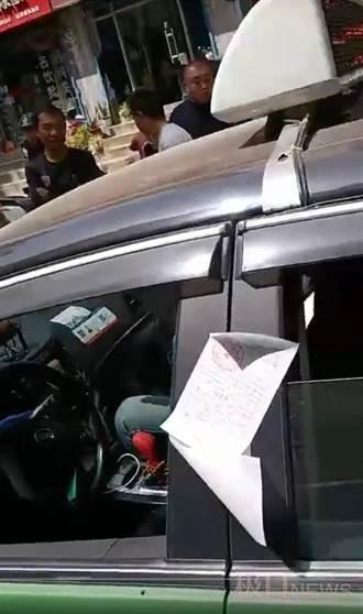 計程車運將車內猝死 交警照貼罰單