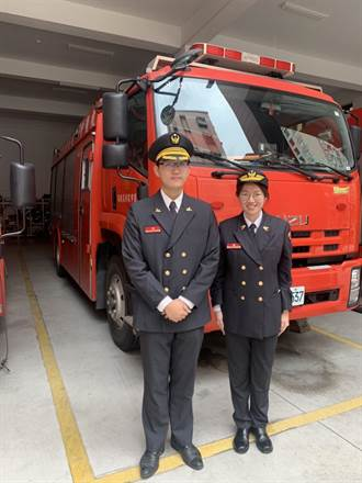 中路首位女消防分隊長上任 三棲合一不讓鬚眉