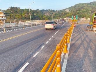 關渡大橋雙白線實體分隔 公路總局:能救命