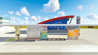 後驛站公車亭改建 估年底完工