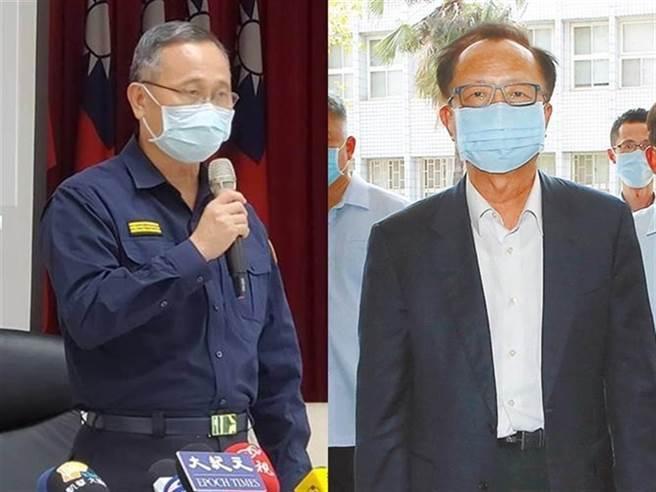 警政署長陳家欽(左)、北市警局長陳嘉昌。(圖/記者林郁平、趙雙傑攝)