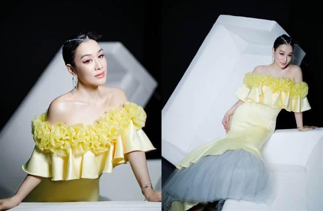 鍾麗緹日前受邀出席深圳時裝周。(圖/翻攝自鍾麗緹微博)