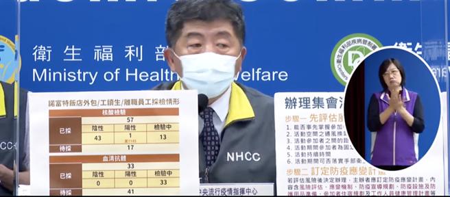 中央流行疫情指揮中心指揮官陳時中。(取自疾管署記者會直播)