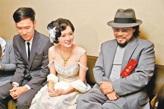 翁馨儀2013年帶球嫁張菲次子張少懷。(圖/中時資料照)