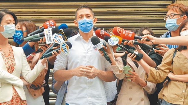 民進黨台北市黨部主委吳怡農2日坦言,蔡英文總統對趙介佑黨籍處理案很關心,也很氣憤。(游念育攝)