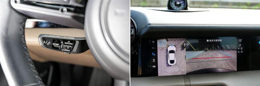 作為一輛Daily Car,駕駛輔助配備必不可少,不過Taycan依循Porshce傳統,ACC(約11.1萬元)、車側盲點偵測(4.9萬元)、360環景(4.7萬元)都是選配!