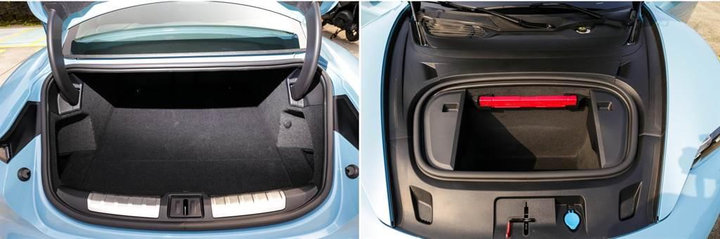 電動車的一大好處就是車身前後都能有置物空間,而且容量不小!(前81升、後407升)
