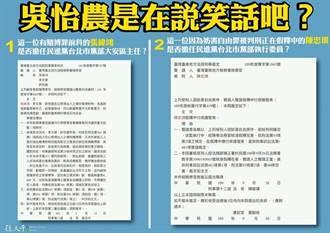 孫大千爆民進黨北市黨部另兩位幹部有前科 諷吳怡農天真或虛偽