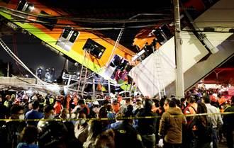 影》墨西哥高架橋坍塌 地鐵空中墜地釀23死65傷