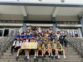 大竹國中籃球隊五虎將 奪桃市比賽季軍